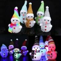 Xmas LED Snowman Santa Claus Ornament Christmas Tree Light Hanging Decors Gifts