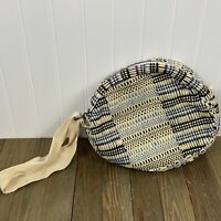 Maria La Rosa Isa Bag Clutch Blue Civetta Cotton Italy New! Boho Summer