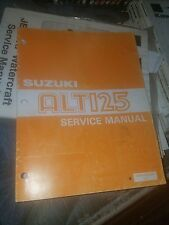 Oem Suzuki 83 - 86 Alt125 3 Wheeler Service Repair Shop Manual Factory Oem Book