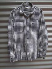 Lee Men's Black And White Check Long Sleeve Shirt