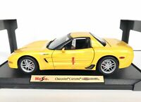 Maisto 2001 Chevrolet Corvette Z06 Yellow 1:18 Scale Diecast Special Edition C5