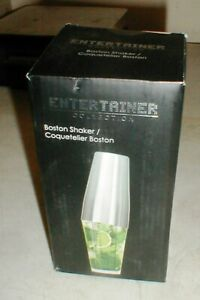 NEW Entertainer Collection Bartender's Bar Boston Cocktail Shaker with Glass