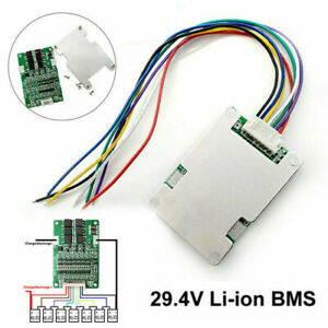 7S 29.4V 15A BMS Lithium Battery Protection Board w/ Balance+Ribbon Cable Set