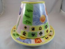 Yankee Candle Large & Medium Jar Candle Shade And Plate-Spring Flowers Theme