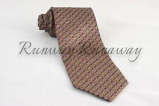 Stefano Ricci Purple Gold Multi Link Pattern Silk Tie $200