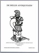 WRG: De Bellis Antiquitatis (DBA) Ancients Wargame Rules 1.1