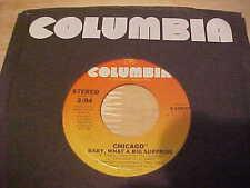 "1977 Chicago ""Baby What A Big Surprise"" Soft Rock 45 RPM Vinyl 7"" Single VG+"