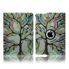 for Apple iPad Air 2 & Pro 9.7 Inch 2017 Leather Flip Stand Folio Protect Case iPad Mini 4 Artistic Tree - Art Leaves Gallery Paint Colourful