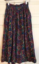 Westbound Vintage 80s Paisley Boho Midi Skirt Size 8