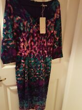 Per Una Purple And Turquoise Pattern Dress Size 8