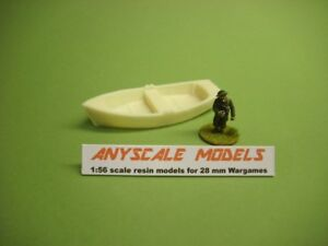 wargames.  Small waterline rowing boat. 1/56 scale for 28mm (863)