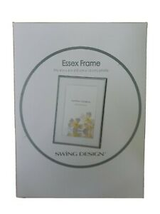 SWING DESIGN ESSEX 4X6 SILVER PLATED PICTURE FRAME FROM POPSUGAR ~NIB~ D4