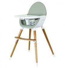 Koo-di Duo Wooden Highchair - Grey and Beech