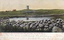 Block Island, Ri - Old Road and Wind Mill