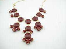Bubble Statement Necklace BURGUNDY receive 3-5 days FREE Shipping USA