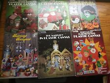 Lot (6) Plastic Canvas Booklets - Variety of Projects