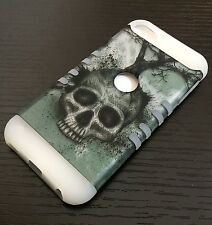 iPod Touch 5th & 6th Gen - HARD&SOFT RUBBER CASE GREEN SKULL TREE (GLOW IN DARK)