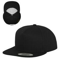 Flexfit 5-Panel Snapback Cap 6007 Black/Black Baseball Cap Stick Print Cap