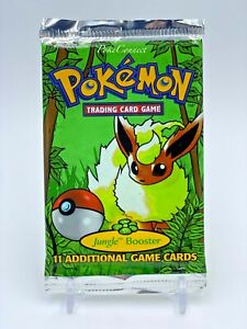 Pokemon 1999 Jungle Unlimited Booster Pack - Flareon Artwork - 20.71g