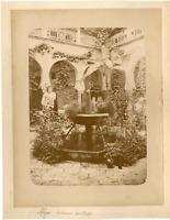 Algérie, Intérieur du Musée  Vintage albumen print.  Tirage albuminé  15x20