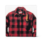 Set Of 4 Black And Red Jacket With A Beer Coasters
