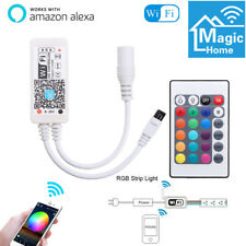 Mini WiFi Remote Controller Cell Phone Android IOS for RGB LED Strip Light Alexa