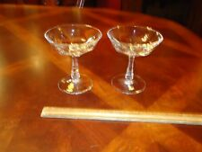 LOT 2 Nachtmann Crystal ALEXANDRA Vintage Glasses Cut Glass Champagne Coupes