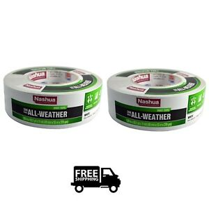 2 Pack Nashua 398 All Weather Duct Tape White HVAC Indoor Outdoor Repair Seal