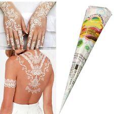 Temporary Tattoo White Kit Natural Herbal Henna Cones Body Art Paint Mehandi Ink