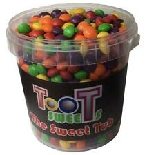 The Sweet Tub Fruity Fruit Flavoured Skittles Chewy Retro Sweets Gift Tub 1200g