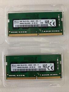 SK hynix 4GB 1RX16 PC4-2666V HMA851S6JJR6N-VK NO AC LAPTOP MEMORY x2 8GB