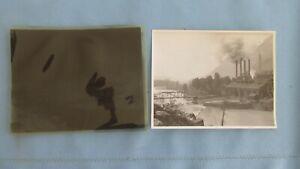 1890's Durango Colorado Anima River Power Plant Original Print Photo & Negative