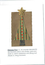 Christmas Holiday Cards 3D  Jennifer Blue Handmade Christmas Tree Defined Card