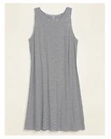 Old Navy Sleeveless Plus-Size Jersey Swing Dress Black Stripe Size 1X #563223