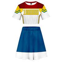 My Hero Academia Million Cosplay Costume Sportwear Top Skirt Dress Gift