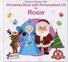 CHRISTMAS BOOK WITH PERSONALISED CD FOR ROSIE - STORIES & SONGS 4 ME