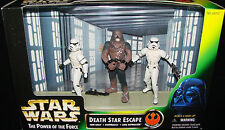 Star Wars The Power of the force Death Star Escape figure set Wookie In Chains