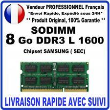 SODIMM 8 Go DDR3 L 1600 MHZ ( 12800 ) 1.35V 204pin PC3L Chipset SAMSUNG