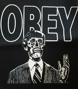 THEY LIVE OBEY CULT FILM MOVIE BLACK CANVAS BACK PATCH