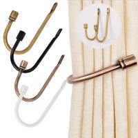 Large Stylish Curtain Hold Back Metal Tie Tassel Arm Hook U Shaped Loop Holder