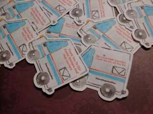 Sugar Blocks Sticker Flakes - Mail Truck (Thank You Postal Workers)