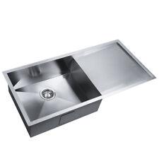 960x450mm Handmade Stainless Steel Under/Topmount Kitchen Laundry Single Sink