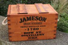 RUSTIC ANTIQUED VINTAGE WOODEN  JAMESON  1780 IRISH WHISKEY BOXES CRATES TRUG