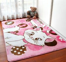Cartoon bedroom Rugs yoga carpet children's cute room crawling carpet pink Cat