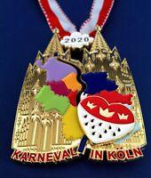 NEU 2020 Karneval Köln 2020 Kölner Dom Orden mit Pin Karnevalsorden Medaille NEU