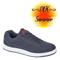 DEK Charlie Men's Casual Skate Trainers Navy Blue Shoes M716C