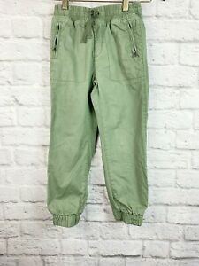 Gap Kids Pants Joggers Army Green Drawstring Adjustable Waist Boy's Size 6-7