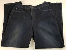 Christopher & Banks Womens Jeans Sz 10P Classic Fit High Waist Dark Wash Denim