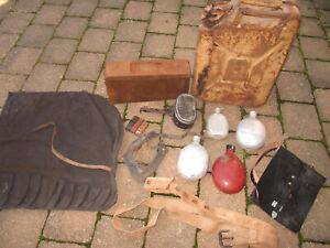 Konvolut Munitionskiste WK2 Wehrmacht Hj Feldflaschen Dachbodenfund Essgeschirr