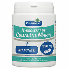 ☆☆☆ Collagene marin + Vitamine C 200 gélules dosées 350mg